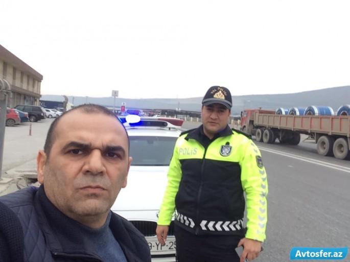 Yol polisindən Qarabağ veteranına böyük sayğı