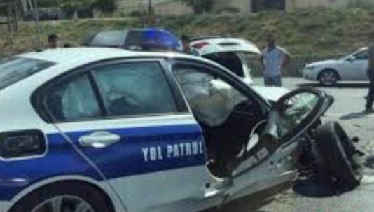 Azərbaycanda yol polisi maşınları yandı - İdarədə