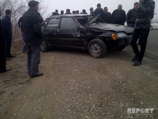 Duman Goranboyda yol qəzasına səbəb olub - FOTO