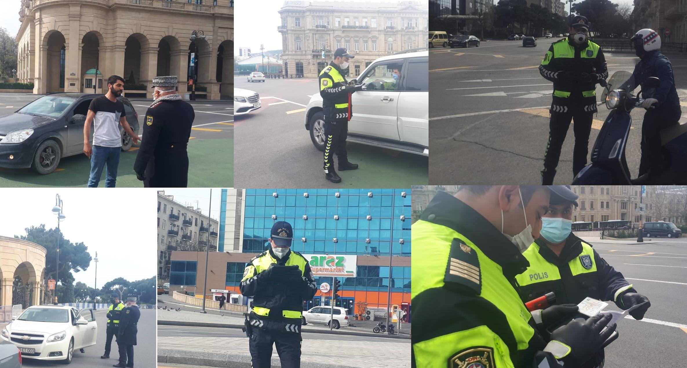 Bakıda xüsusi karantin rejiminin ilk günü: 500-dən artıq sürücü saxlanıldı - VİDEOREPORTAJ
